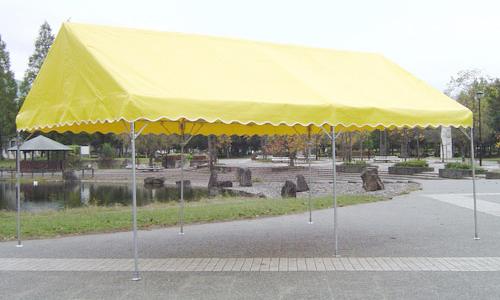 屋形テントカラーバリエーション イエローの使用イメージ画像