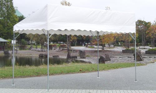 片屋根テント使用イメージ